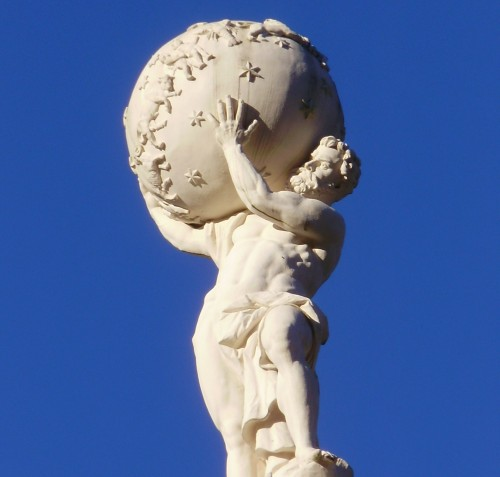 Atlas on the top of Schloss Linderhof