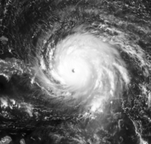 Geostationary image of 2017's Hurricane Irma (11L)
