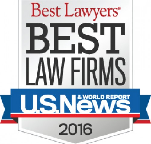 U.S. News 2016 Best Law Firms Badge