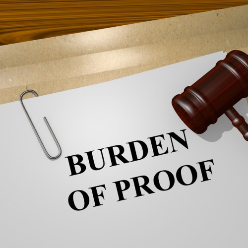 Burden of proof in property tax appeals