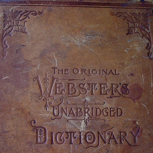 Photograph of the Original Webster's Unabridged Dictionary