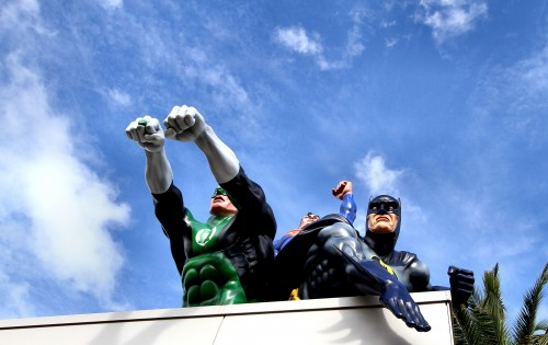 DC Comics characters The Green Lantern, Batman, and Superman