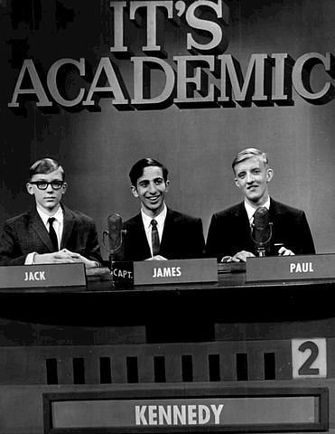 It's Academic show at WMAQ-TV in 1967. The team is from Chicago's Kennedy High School.